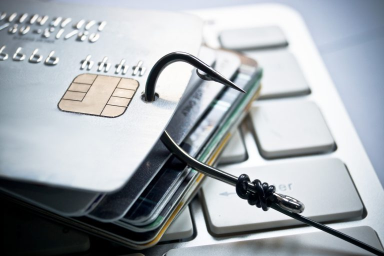 Fish Hook Through Credit Cards as Phishing Steals Money
