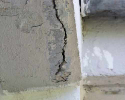 Crack in Concrete Wall