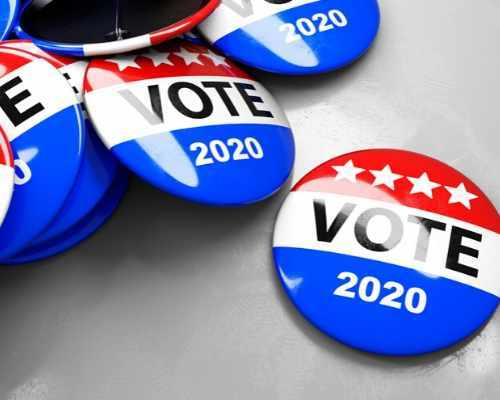 Election Vote Pins