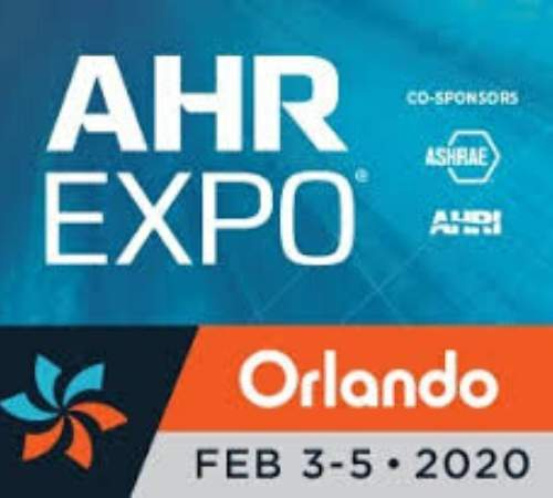 Advertisement for AHR expo