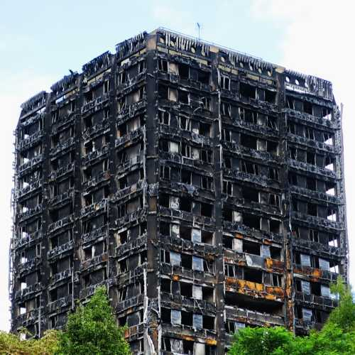 Building Affected by the Grenfell fire in 2017