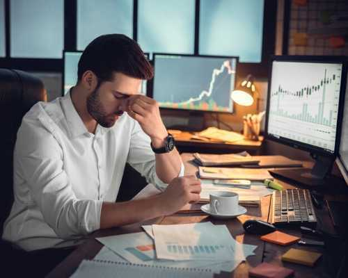 Man Showing Frustration over Data