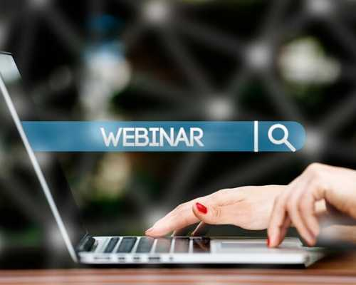 Person Searching on Computer for Webinar