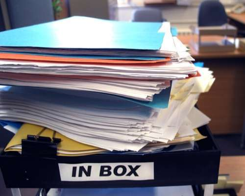 Pile of Paper in Office