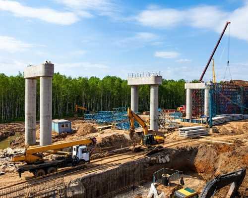 Construction Equipment on Construction Site