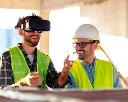 Construction Workers Using Virtual Reality Technology